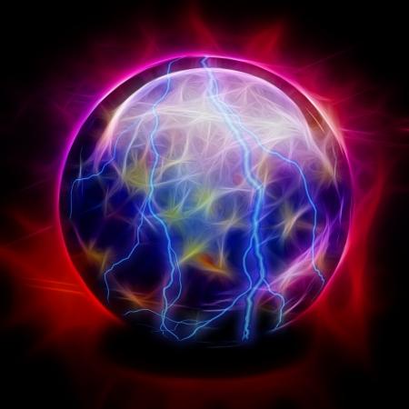 psiquico: Bola de cristal eléctrico Foto de archivo