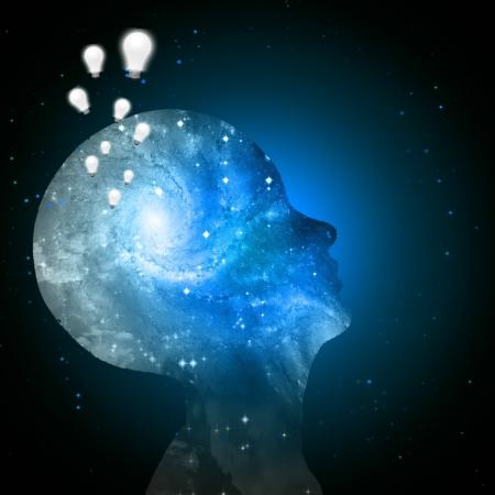 cogitate: Universe mind Ideas Stock Photo