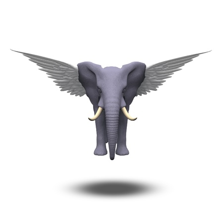 Winged Elephant photo