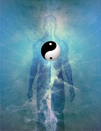 Yin Yang Menschliche Standard-Bild - 20352060