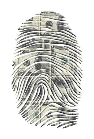 background csi: US Dollars FInger Print