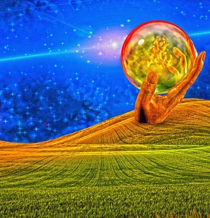 glass ball: Strange Landscape