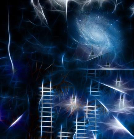 step ladder: Imagine Stock Photo