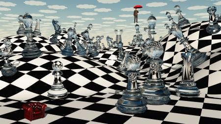 backdrop: Fantasy Chess Stock Photo