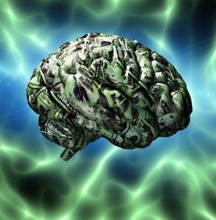Cervello composto da valuta degli Stati Uniti Archivio Fotografico