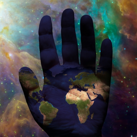 south space: Earth hand galactic