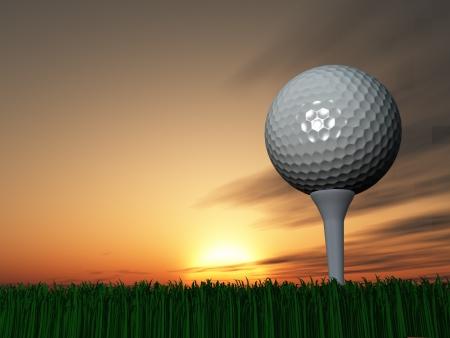 grass close up: Sunset or Sunrise Golf