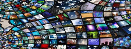 idea generation: Video and image screens abstract Stock Photo