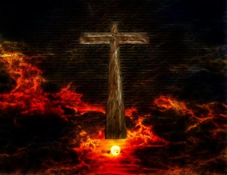 rightness: Cross in Sky Stock Photo