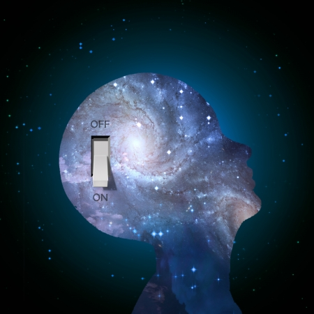 Galaxy mind switch Stock Photo - 21638560