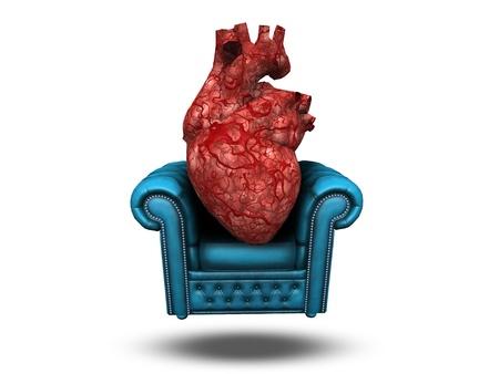comfortable: Heart on comfortable chair