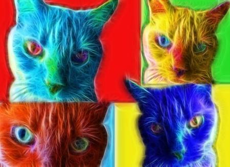 furry animals: Cat Pop Art Style