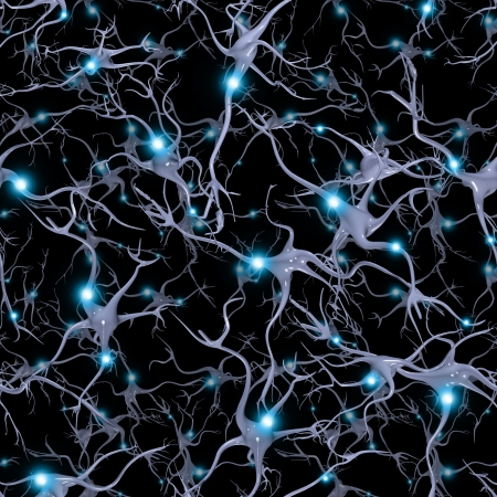 electric cell: Seamlessly Repeatable Brain Cells Pattern