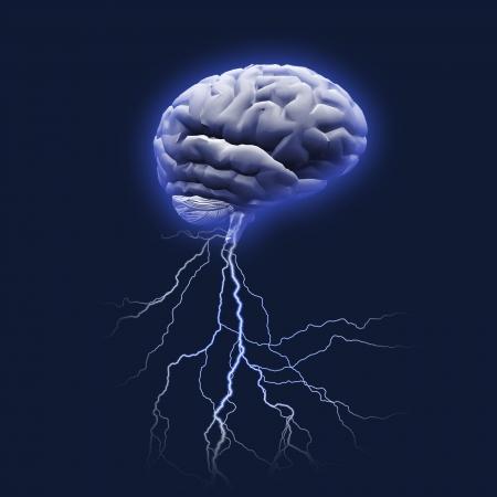 cerebro humano: Tormenta de ideas Foto de archivo