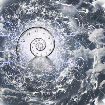시간과 양자 물리학 스톡 콘텐츠