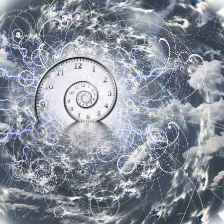 Tijd en Quantum Physics Stockfoto
