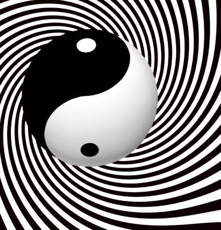 Yin Yang s�mbolo con Espiral photo