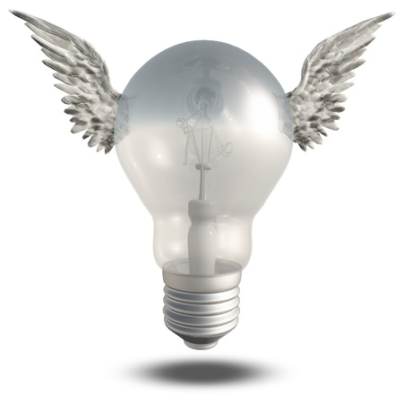 Light Bulb and Wings photo