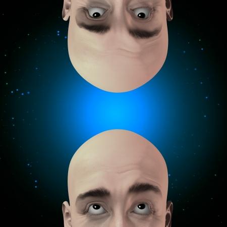 Two men gaze with stars Stock Photo - 21639553