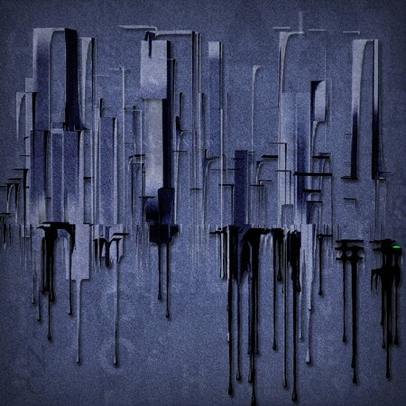 City Abstract in 1950s Style with Pop Twist photo