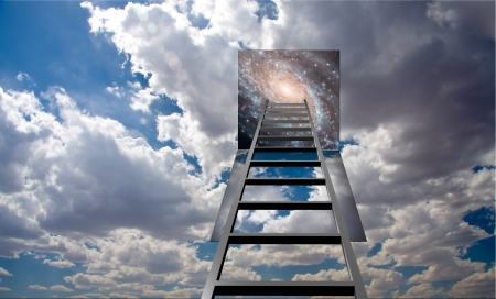 Ladder into hole in heaven photo