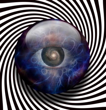 3 d glasses: Eye Galaxy Spiral