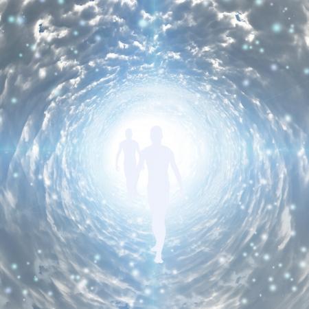 cielo: Túnel de la Luz con la figura