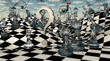 Fantasy Chess Stockfoto