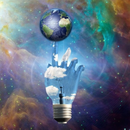 galactic: Light Bulb Hand and Earth