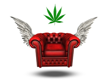 Winged Chair and Marijuana leaf photo