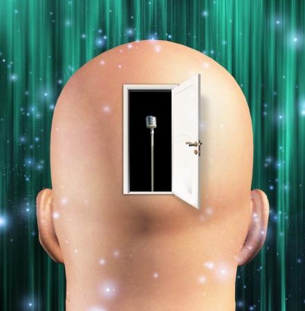 open brain: Microphone inside mind