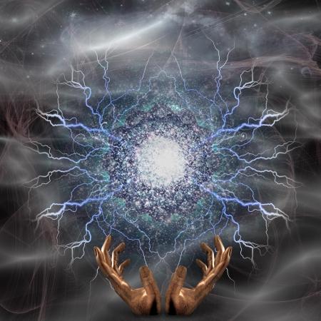 concept magical universe: Arco voltaico