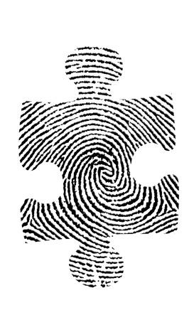 crime solving: Puzzle Fingerprint