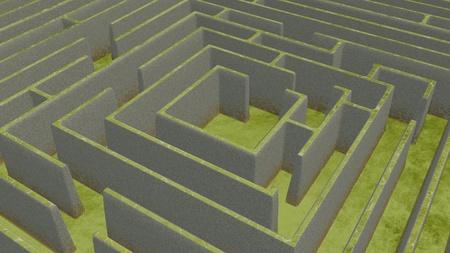 Green Maze from above Фото со стока