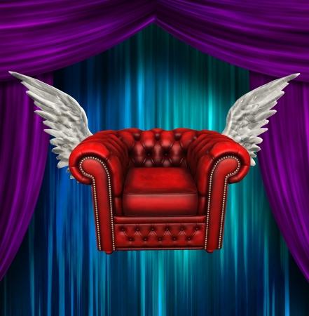 Winged comfort chair Banco de Imagens