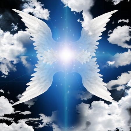 angel de la guarda: ?ngel con alas