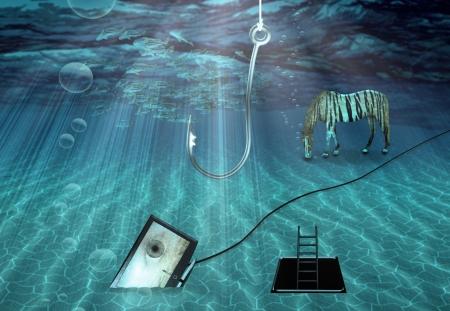 Fantasy Underwater scene Stock Photo - 22147377