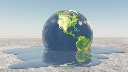 Fusion de la Terre dans l'eau Banque d'images - 22147382