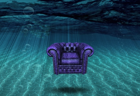below: Arm chair floats above sea bottom