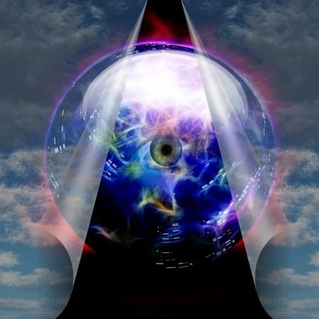 psiquico: Crystal Ball revela ojo