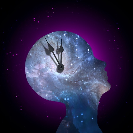 cogitate: Universe mind time Stock Photo