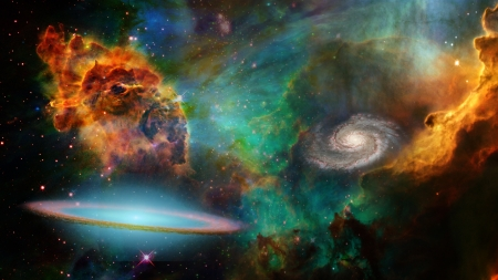 Deep Space Elements of this image furnished by NASA Stock Photo - 22147434