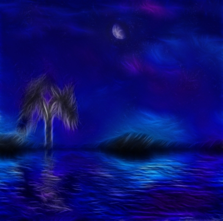 Paintertly nightscape Stock Photo