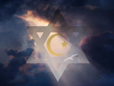 etoile juive: �toile juive et musulmane Crescent