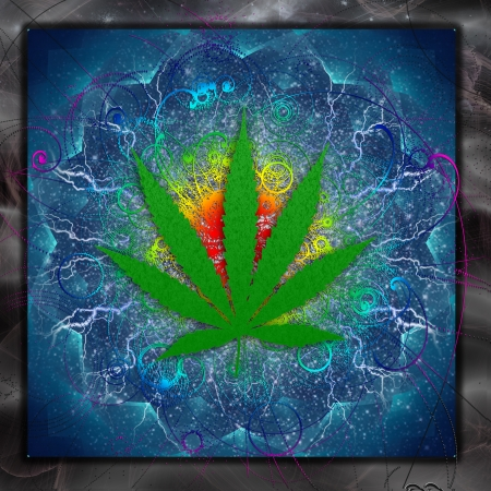 Marijuana Art Stock Photo