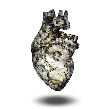 heart: Human heart gears Stock Photo