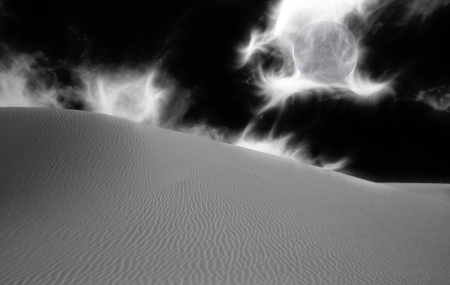 desolate: Desert Black and White Abstraction