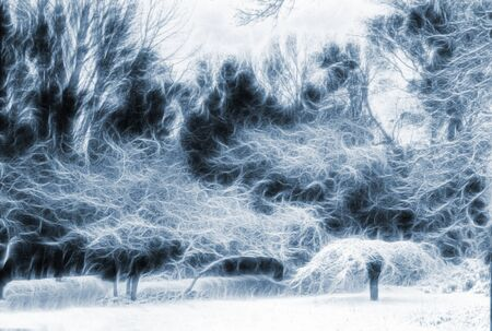 fantasy: Trees Landscape Abstraction Stock Photo