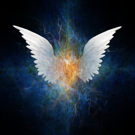 angels: Beautiful Wing Design Stock Photo