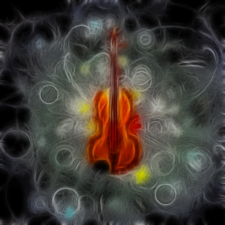 stringed: Violin Design Stock Photo